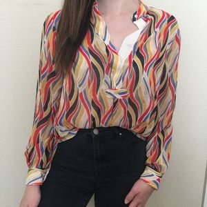 💕NEW💕 Anne Klein | Colorful Patterned Blouse